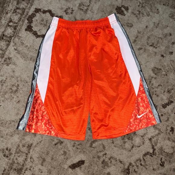Nike orange & gray basketball shorts size large